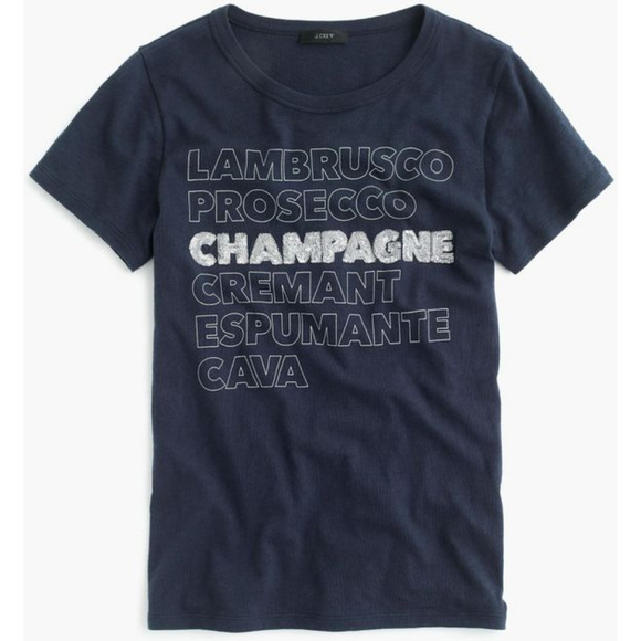 J. Crew Tops - NWT JCrew Champagne Graphic Tee Size Small